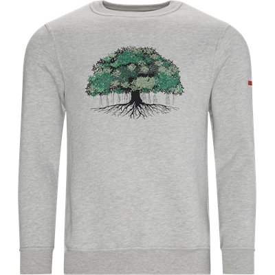 Tree Crewneck Sweatshirt Regular | Tree Crewneck Sweatshirt | Grå
